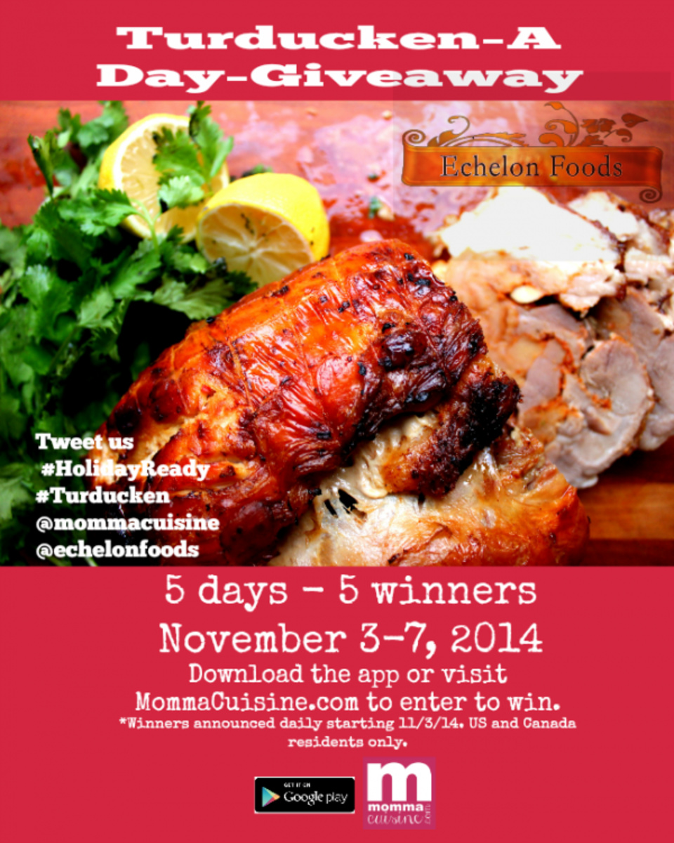 Giveaway: One Winner A Day Will Win a #Turducken from