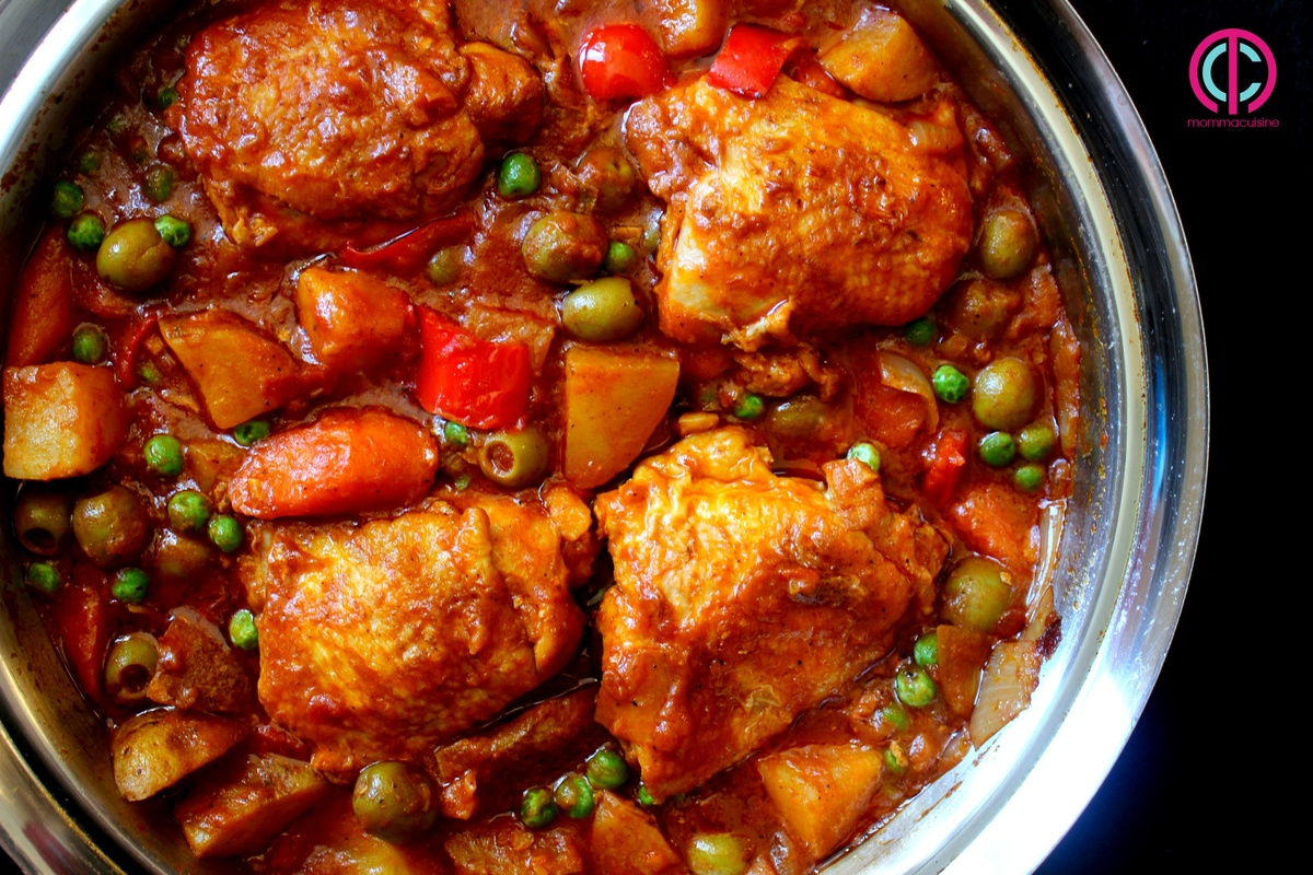 Chicken afritada spanish style chicken stew recipes momma cuisine forumfinder Gallery