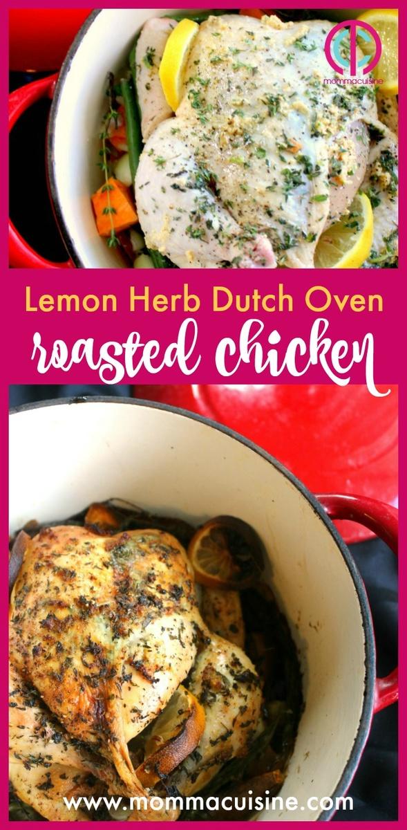 Lemon Herb Dutch Oven Roasted Chicken Recipes